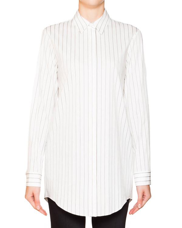 рубашка из хлопка в тонкую полоску артикул JDF317A марки Jil Sander купить за 8900 руб.