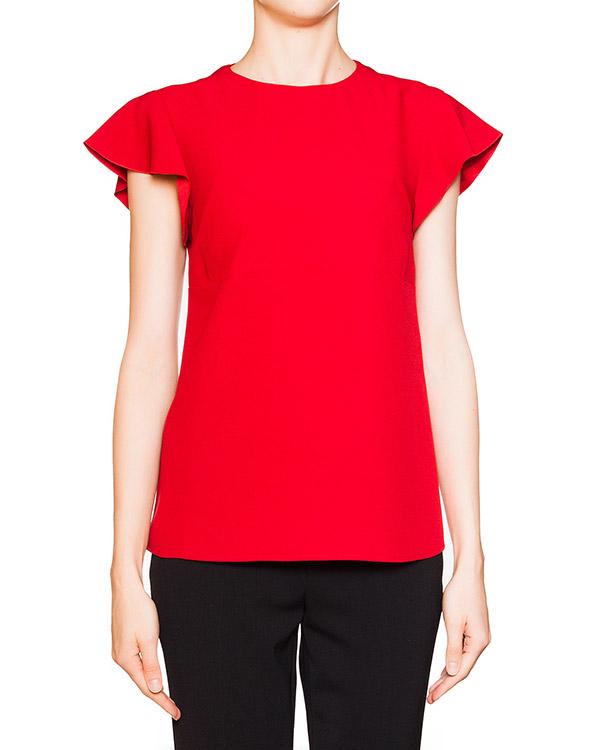 топ изт плотной ткани с объемными рукавами артикул JG0AA075 марки Valentino Red купить за 5300 руб.