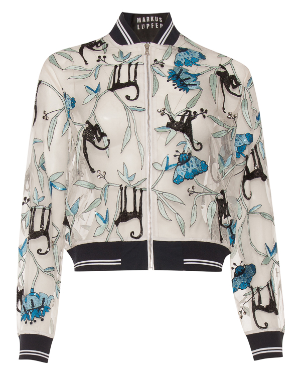 Markus Lupfer из полупрозрачного шелка с вышивкой артикул JKT285 марки Markus Lupfer купить за 58800 руб.