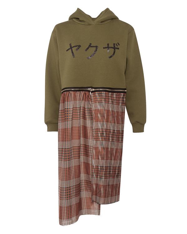 худи из хлопка со съемной нижней частью  артикул JOZ марки Saint-Tokyo купить за 19000 руб.