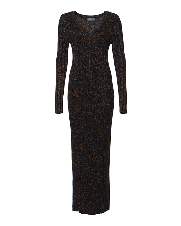 платье из шерстяного трикотажа с люрексовыми нитями артикул KD0490203 марки Graviteight купить за 16800 руб.