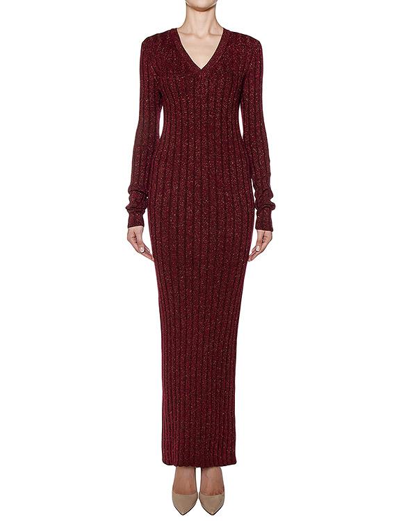 платье в пол из шерстяного трикотажа с люрексовыми нитями артикул KD0490224 марки Graviteight купить за 16800 руб.