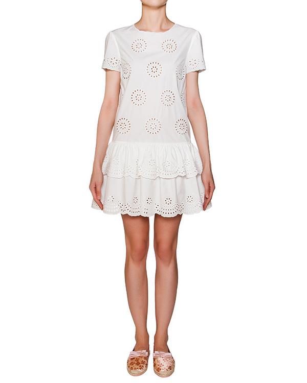 платье из хлопка с узорами артикул KR0VA02H марки Valentino Red купить за 15500 руб.