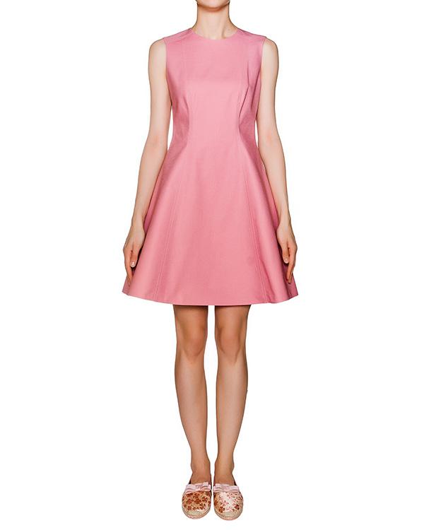 платье приталенное из плотного хлопка артикул KR0VA2G5 марки Valentino Red купить за 10300 руб.