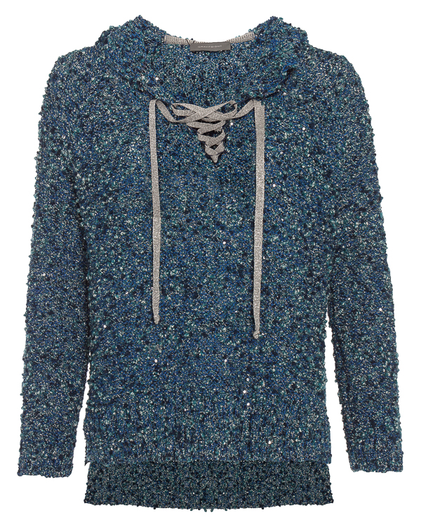 свитер вязаный с завязками и капюшоном  артикул KS1513144 марки Graviteight купить за 27500 руб.