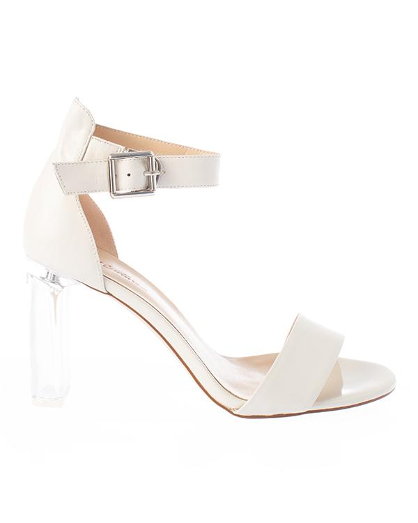 Just Couture из кожи на прозрачном каблуке артикул  марки Just Couture купить за 8600 руб.
