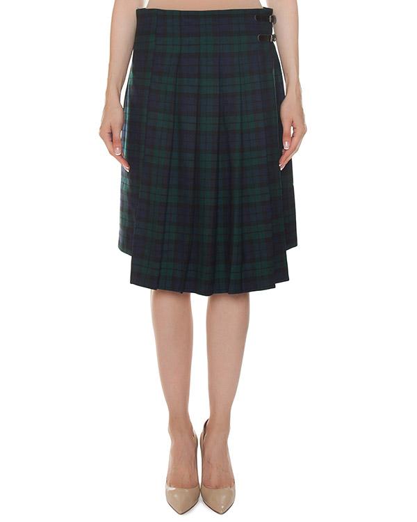 юбка шотландка на запах из шерсти  артикул LAMIX620220 марки P.A.R.O.S.H. купить за 18500 руб.