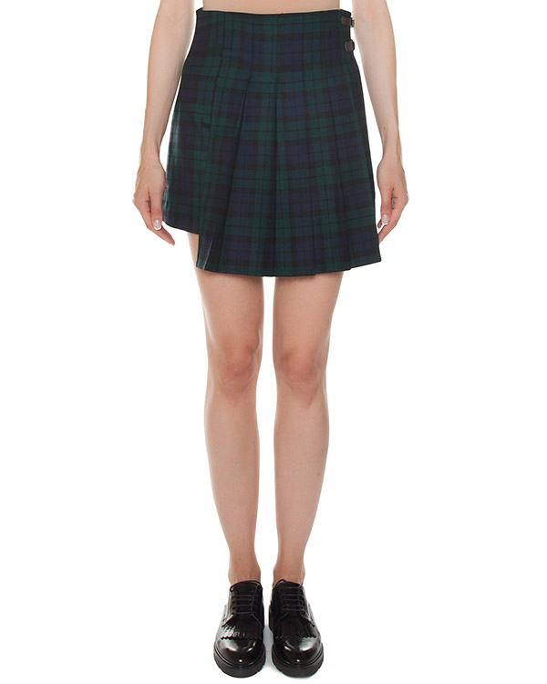 юбка шотландка из хлопка в клетку артикул LAMIX630062 марки P.A.R.O.S.H. купить за 15900 руб.