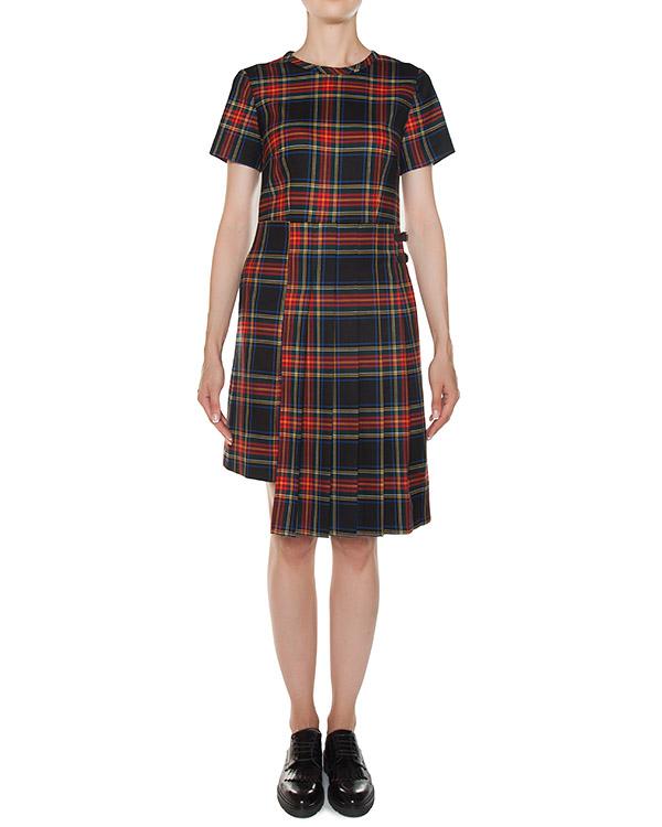 платье шотландка из тонкой шерсти артикул LAMIX721342 марки P.A.R.O.S.H. купить за 18400 руб.