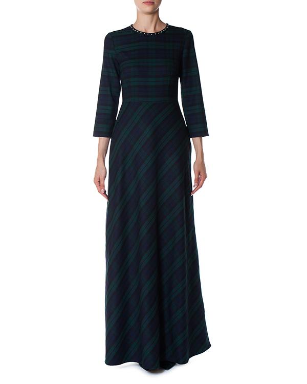 платье из шерсти с акцентом на талии артикул LAMIX721353Z марки P.A.R.O.S.H. купить за 33800 руб.