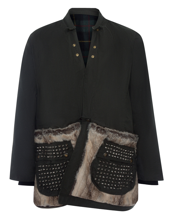 куртка трансформер из хлопка с отделкой мехом артикул LE0002R7 марки L'Edition купить за 35000 руб.