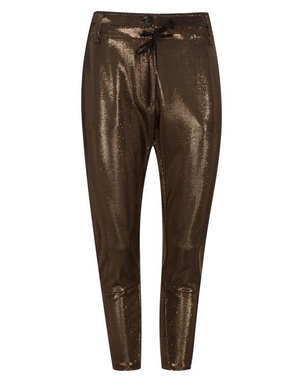брюки из металлизированного материала  артикул LE0367 марки L'Edition купить за 9600 руб.