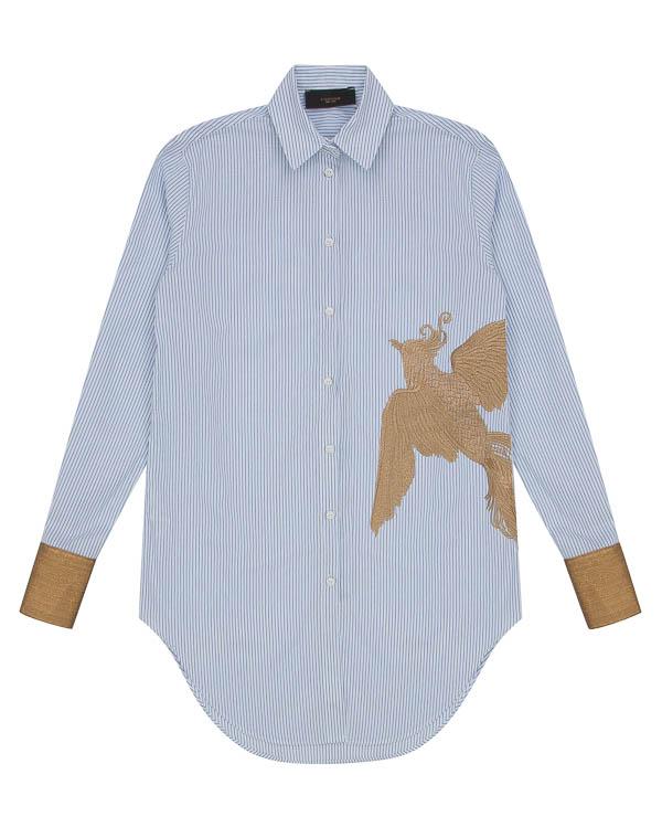 рубашка из хлопка с вышивкой  артикул LE0378R3G марки L'Edition купить за 14100 руб.