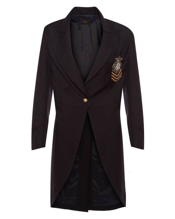 L'Edition из костюмной шерсти в стиле милитари  артикул LE0455 марки L'Edition купить за 32100 руб.
