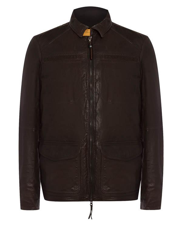 куртка из плотной кожи с карманами артикул LE04 марки Parajumpers купить за 66500 руб.