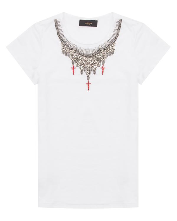 женская футболка L'Edition, сезон: лето 2018. Купить за 9800 руб. | Фото $i