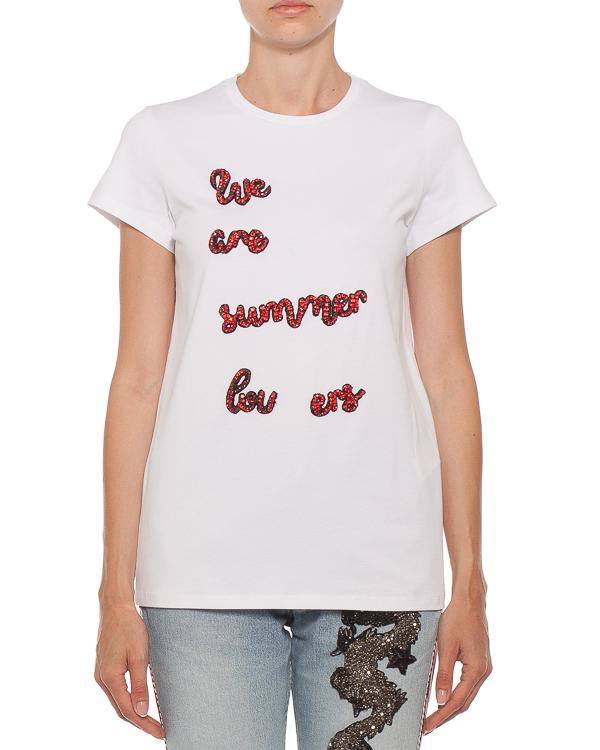 женская футболка L'Edition, сезон: лето 2018. Купить за 8500 руб. | Фото $i