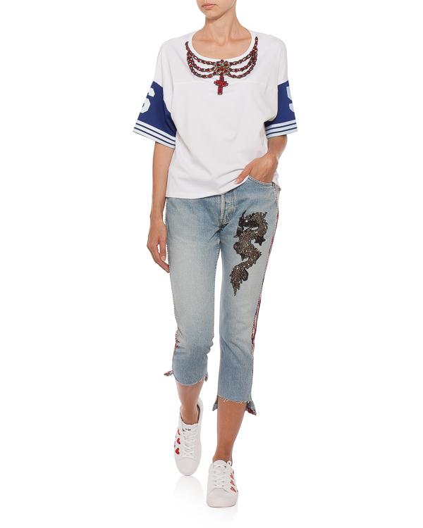 женская футболка L'Edition, сезон: лето 2018. Купить за 26600 руб. | Фото $i