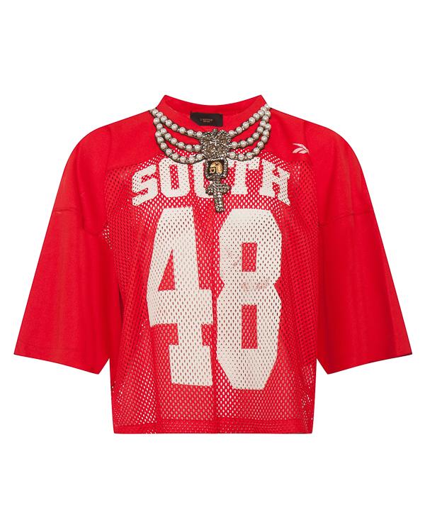 футболка в винтажном стиле с массивным колье  артикул LE0570-R84 марки L'Edition купить за 26600 руб.