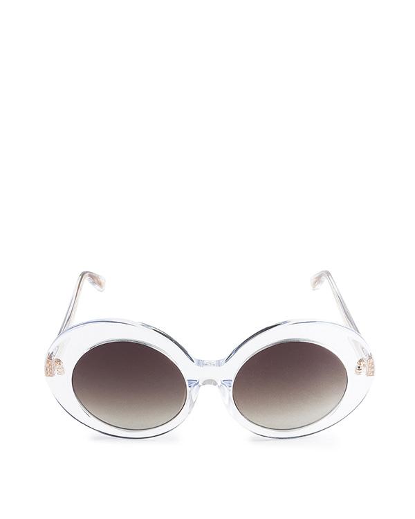 очки из итальянского ацетата цвета с деталями из золота артикул LFL468C6SUN марки Linda Farrow купить за 31900 руб.