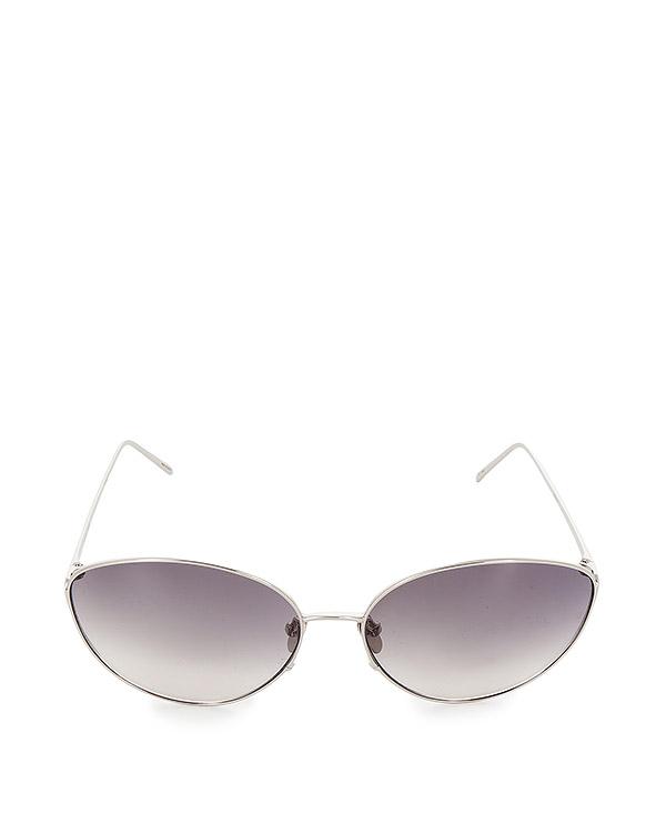 очки из титана с покрытием из белого золота артикул LFL508C5SUN марки Linda Farrow купить за 47100 руб.