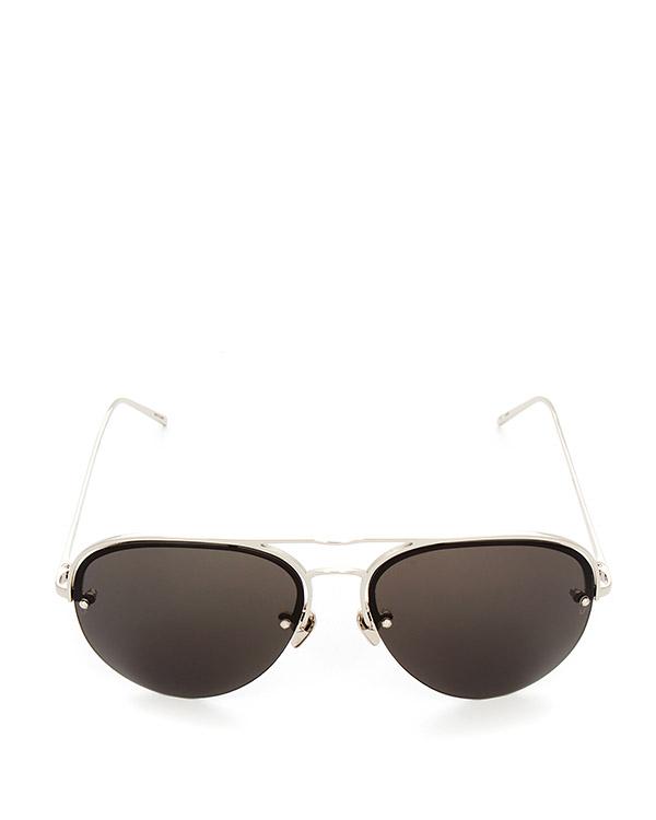 очки из японского титана с покрытием из белого золота артикул LFL543C5SUN марки Linda Farrow купить за 47100 руб.