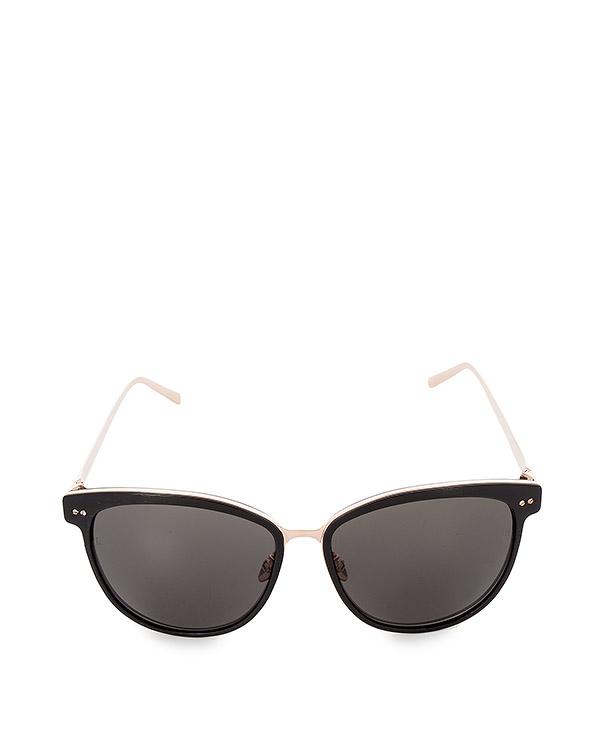 очки из японского ацетата и позолоченного титана артикул LFL547C2SUN марки Linda Farrow купить за 47100 руб.