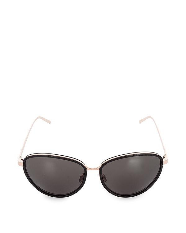 очки из легкого японского позолоченного титана артикул LFL550C2SUN марки Linda Farrow купить за 47100 руб.