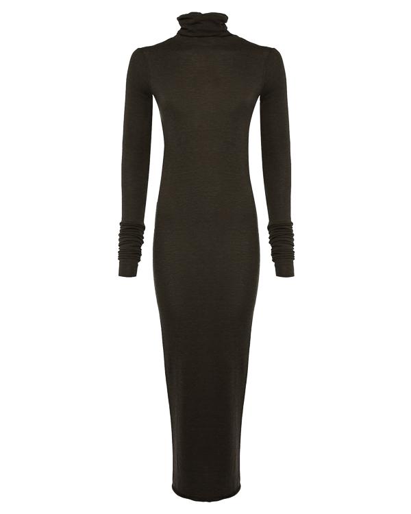платье макси облегающего силуэта артикул LI17F4525 марки RICK OWENS LILLIES купить за 17600 руб.
