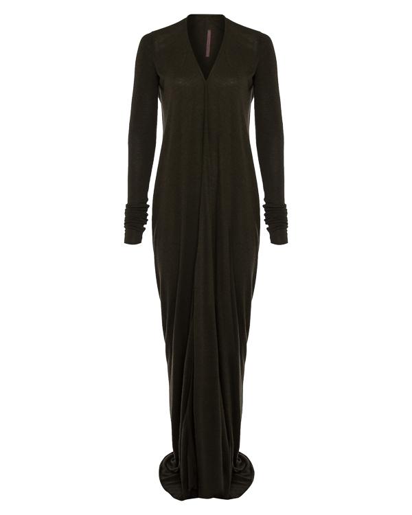 платье из легко драпирующегося трикотажа артикул LI17F4527 марки RICK OWENS LILLIES купить за 28800 руб.