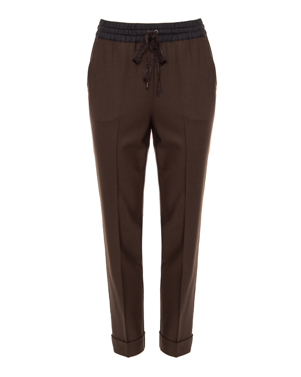 брюки P.A.R.O.S.H. LILIUXYD230386 xs коричневый+синий