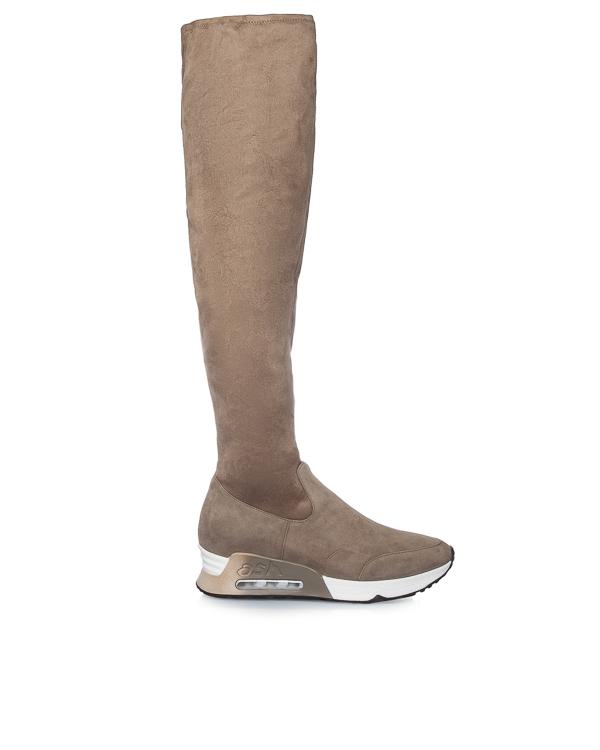 ботфорты в спортивном стиле из эластичной замши  артикул LIMITED марки ASH купить за 11100 руб.