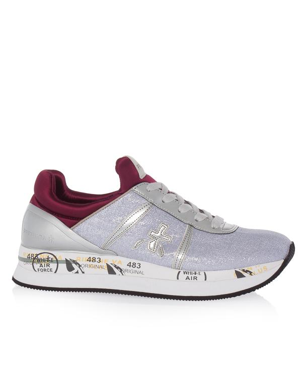 кроссовки из текстиля с кожаной отделкой  артикул LIZ марки Premiata sport купить за 16700 руб.