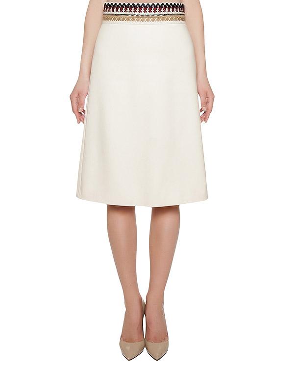 юбка из шерсти, на поясе украшена вышивкой артикул LR0RA1H0 марки Valentino Red купить за 14200 руб.