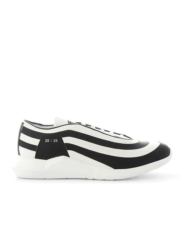 кроссовки из кожи с графичной подошвой  артикул LSSILVER марки Luca Sabbioni купить за 18000 руб.