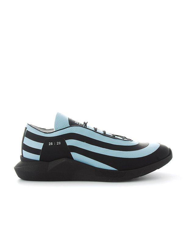 кроссовки из кожи с графичной подошвой  артикул LSSILVER марки Luca Sabbioni купить за 25700 руб.
