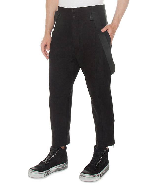 брюки из рами с эластичными подтяжками артикул M21570610 марки Lost&Found купить за 26500 руб.