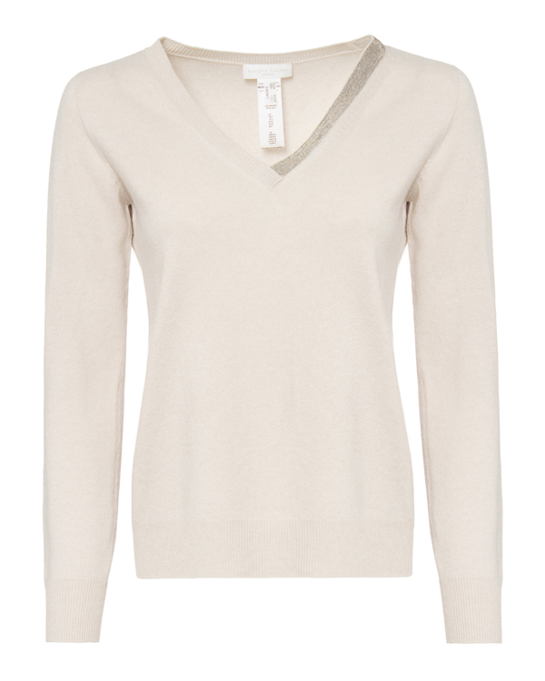 пуловер Fabiana Filippi MAD220W011 40 молочный