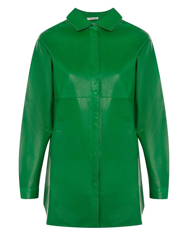 рубашка из мягкой кожи на кнопках  артикул MALINDI430708 марки P.A.R.O.S.H. купить за 49500 руб.