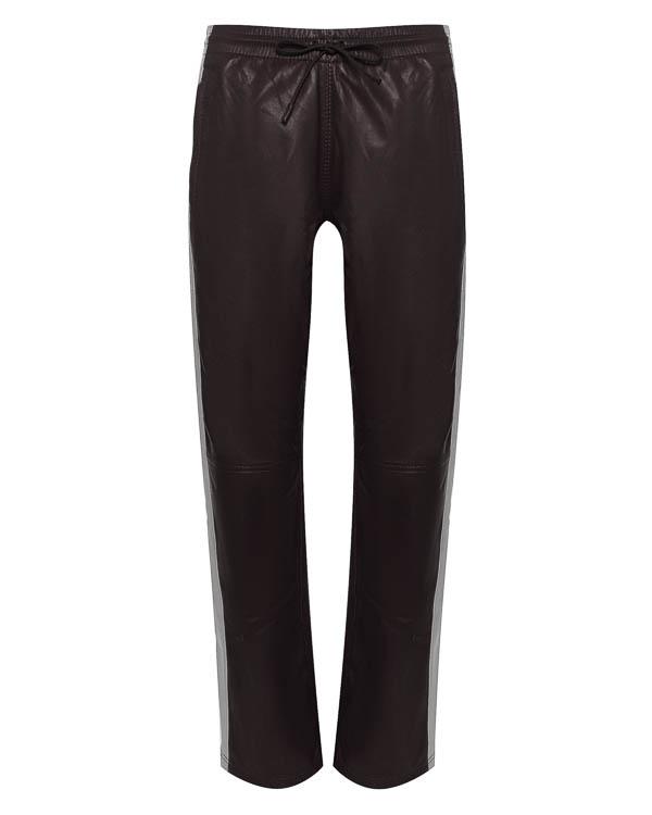 брюки спортивного кроя из кожи с трикотажной отделкой артикул MARTIN230563 марки P.A.R.O.S.H. купить за 21600 руб.
