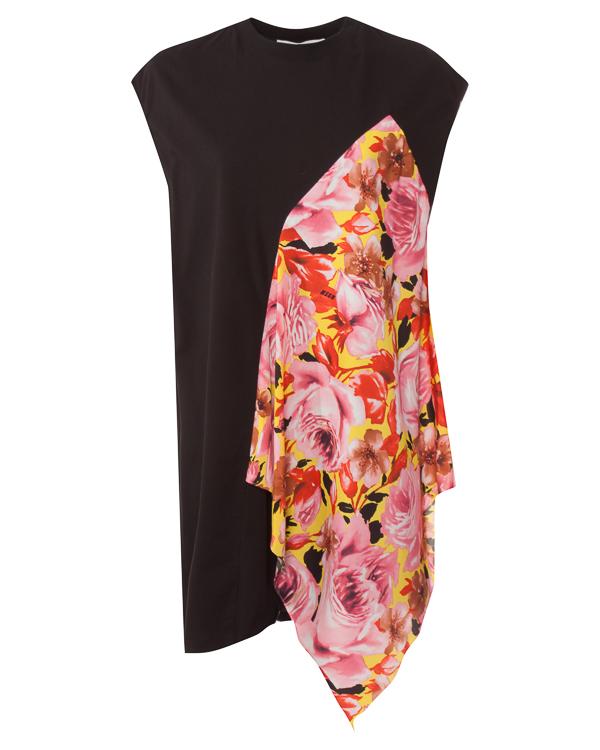 платье мини с ярким акцентом  артикул MDA164Y марки MSGM купить за 7000 руб.
