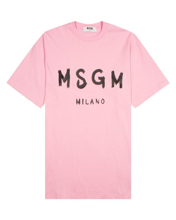 MSGM -футболка с брендированным принтом артикул MDA168 марки MSGM купить за 4000 руб.