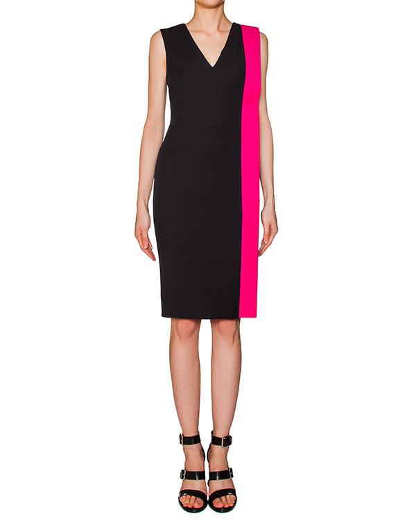 платье из эластичного трикотажа с контрастной отделкой артикул MDA22Y марки MSGM купить за 15000 руб.