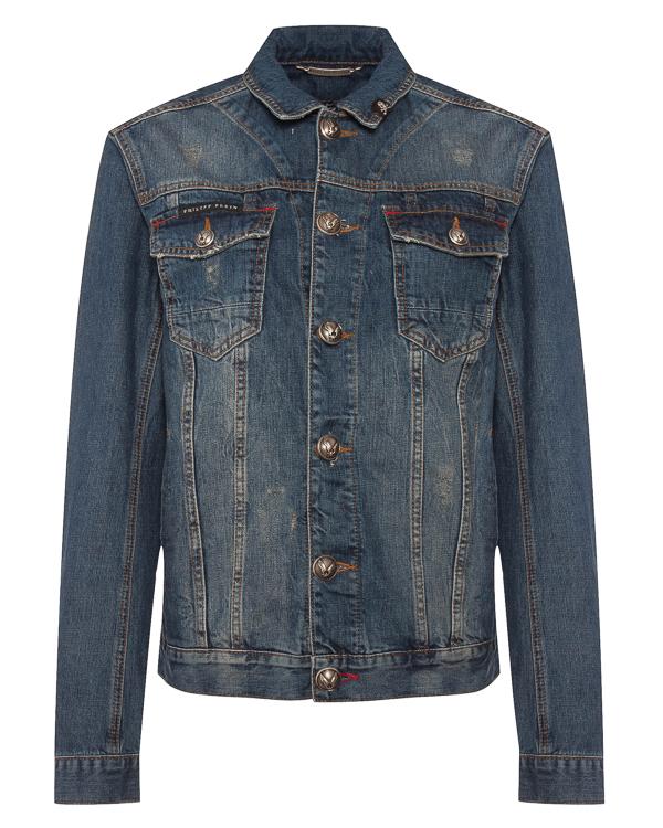 PHILIPP PLEIN джинсовка из плотного денима  артикул  марки PHILIPP PLEIN купить за 56400 руб.