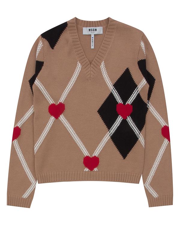 пуловер из шерсти с рисунком артикул MDM151 марки MSGM купить за 17600 руб.