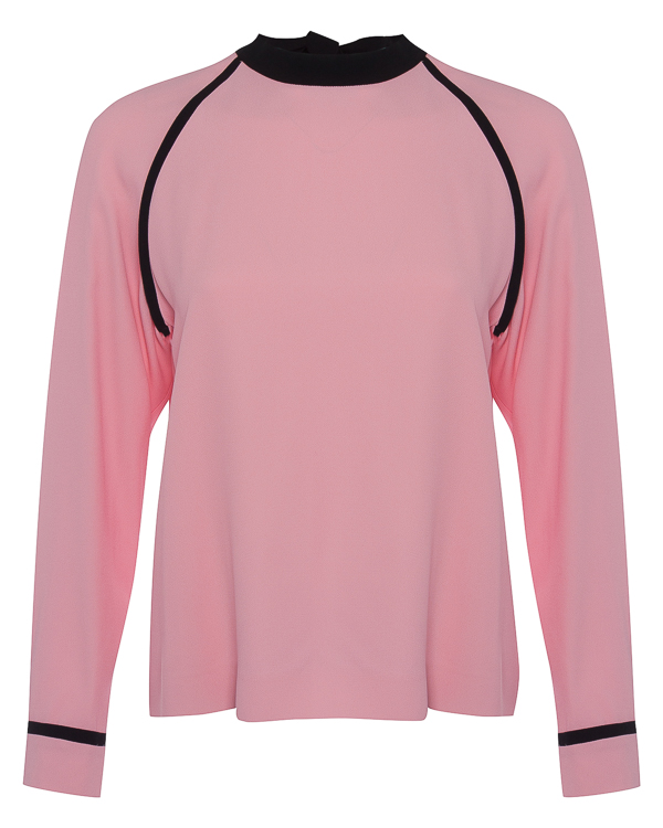 блуза из крепа с завязками на спине на бант артикул MDM17Y марки MSGM купить за 12900 руб.
