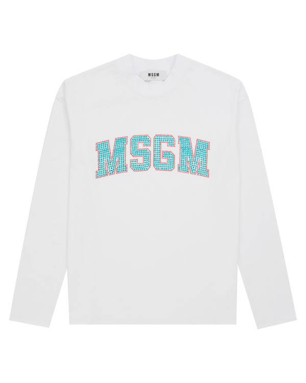 MSGM из хлопка с логотипом бренда из кристаллов артикул MDM181X марки MSGM купить за 6700 руб.