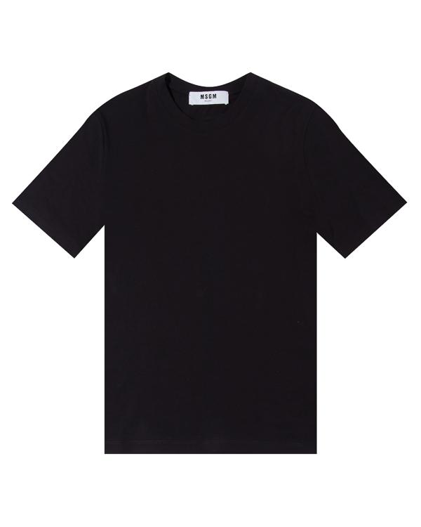 футболка из хлопка с принтом на спине артикул MDM198-184299 марки MSGM купить за 5100 руб.