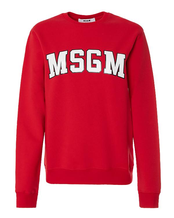 MSGM из плотного футера с логотипом бренда артикул  марки MSGM купить за 9200 руб.