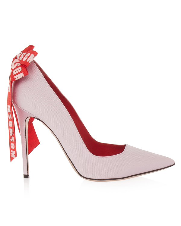 туфли лодочки из текстиля с кожаной отделкой  артикул MDS30 марки MSGM купить за 30400 руб.